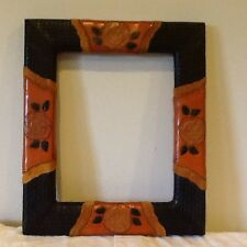 Leather Picture frame by American West- HANDMADE and gorgeous! NEW!