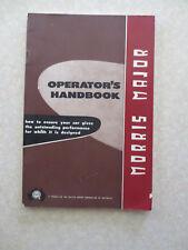 Original vintage Morris Major owners manual - BMC Australia