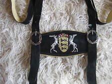 Trachten Hosenträger H Stegträger schwarz mit  Baden Württemberg Wappen Pulsz