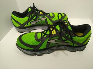 Brooks men's Pure Flow Neon green running shoe size 12