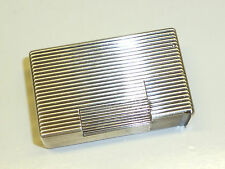 """FRENCH SOLID SILVER JEWELLERS """"CARTIER"""" ? POCKET LIFTARM LIGHTER - 1940 - RARE"""
