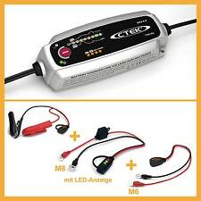 CTEK MXS 5.0 SET M8 Ladekabel LED Anzeige KFZ Batterie Ladegerät Auto Motorrad