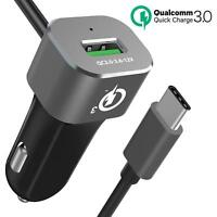 BrexLink Quick Charge 3.0 Car Charger Adapter Compatible w. iPhone, Note 8 9 S8