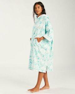 Billabong Hoodie Changing Towel - Women's - Island Blue Neo (BHQ9)