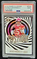 2019 Illusions MYSTIQUE Chiefs PATRICK MAHOMES Football Card PSA 9 MINT Pop 13