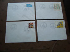 FRANCE - 4 enveloppes 4/6 1986 (cy47) french