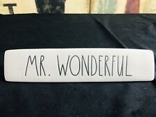 MR. WONDERFUL Rae Dunn BIG LETTERS Paperweight Sign Desk Bedroom Magenta HTF NEW