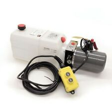 Single Acting 12V DC Hydraulic Pump Power Pack Up Down Supply 6 Quart Tank DC26