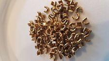 #5 U Shaped Zipper Top Stop PKG of 50 Brass Closure