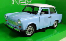 Nex models 1/24 Scale 24037SW Trabant 601 Light blue / White Diecast model car