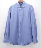 Polo Ralph Lauren Men's Extra Large XL L/S Button Down Blue White Plaid stretch