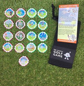 Mr Chippy Golf Poker Chip Game - Set of 16 plus 1 x BONUS chip