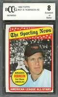Brooks Robinson Card 1969 Topps #421 Baltimore Orioles BGS BCCG 8