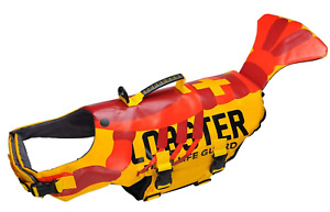 Lobster Dog Life Jacket Swimming Float Camo Cute Vest Adjustable with Handle