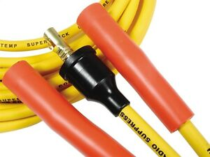 Accel 4038 Universal 8mm Copper Solid Core Yellow Spark Plug Wires 8 Cylinders