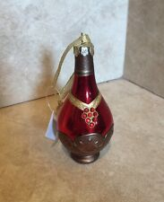 Wine Bottle Ornament Bar Accessory Blown Glass Celebration Holiday New