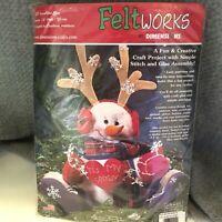 "Christmas 13"" Snowman Felt Decor Craft Kit Dimensions 8129"