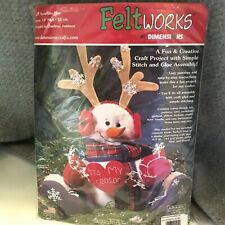 "Christmas 13"" Snowman Felt Decor Craft Kit Dimensions 8129"