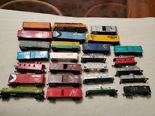 25 HO Train Car Shells, 1 HO Locomotives All for Parts/Repair/Restoration