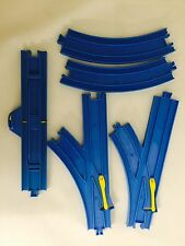 5 Tomy Train Tracks Blue Curved & Special Y Split Tracks for Thomas the Train