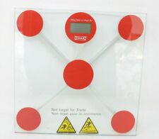 Ikea Tempured Glass Red Scale 396lbs