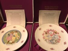 Royal Doulton Tableware Porcelain Valentine'S Day 1967 & 1977 Cupid Plate