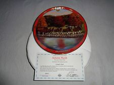 The Danbury Mint Pride Of Budweiser Plate Collection Autumn March