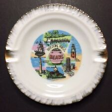 Vintage Boston Massachusetts Beans Collectible Souvenir Ashtray / Plate 4 5/8""
