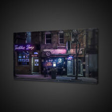 CAFE NIGHTLIFE MUSIC CANVAS PICTURE PRINT WALL ART HOME DECOR FREE DELIVERY
