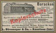 orig. Reklame L. Stromeyer & Co. Konstanz Barackenbau Zelte Textil Weberei 1894