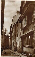Rppc,Plymouth,U.K.Street with Elizabethan House,Devon,c.1909