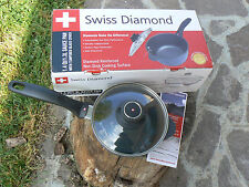 NUOVO Swiss Diamond Casseruola alta con coperchio in vetro mod 6716 16cm