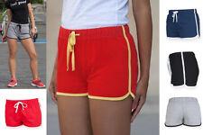 Ladies Womens Retro Short Shorts - Sports Gym Run Fitness Outdoor Summer Look