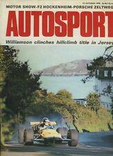 Autosport October 15th 1970 *F2 Hockenheim & Albi F3*