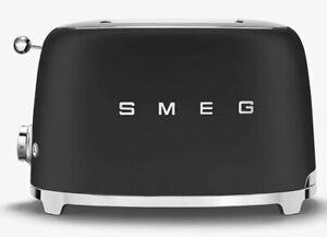 SMEG 50's Retro Style 2 Slice Toaster - Black TSF01BLEU