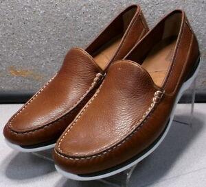 253230 MS50 Men's Shoes Size 11 M Tan Leather Slip On Johnston & Murphy