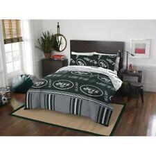 New York Jets Nfl Queen 5 Piece Comforter Bedding Team Logo Bed in Bag Set