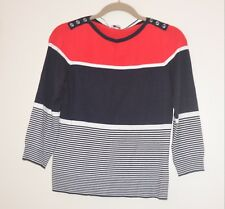 NWOT W.LANE KNITTED RED WHITE & BLUE JUMPER  LADIES SIZE XS  FINE KNIT