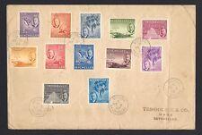 Seychelles KGVI 1952 issue to R1.50 12v on FDC