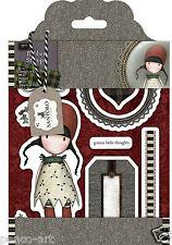 Docrafts Papermania Urban Rubber Stamp Set Santoro Gorjuss Tweed-Holly