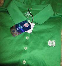 Womens PETER MILLAR NOTRE DAME Polo SHIRT XL NEW Long Sleeve NWT Irish GOLF