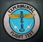 """BOEING EXPERIMENTAL FLIGHT TEST PATCH, 4"""", NEW, WITH HOOK AND LOOP BACK"""