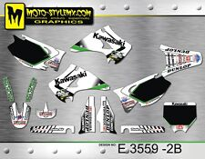 Kawasaki KX 125 250 2003 up to 2008 graphics decals kit Moto StyleMX