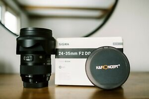 Sigma 24-35mm f/2 ART Lens for Canon w/ Case, Variable ND, B+W UV, Sigma Dock