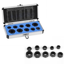 10 Piece Low Set Cased Damaged Bolt Nut Screw Remover Extractor Removal Set