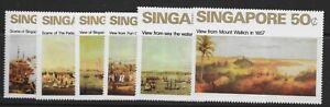 SINGAPORE SG165/70 1971 ART SET MTD MINT