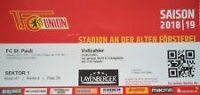 TICKET 2. BL 2018/19 FC Union Berlin - FC St. Pauli
