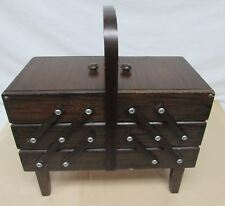 Singer Vintage ACCORDIAN STYLE SEWING BOX/STAND