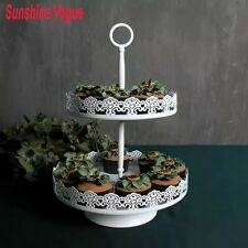 2 Tier  White Cupcake Stand For Wedding Birthday Parties.