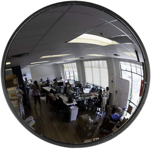 "26"" Acrylic Convex Mirror, Round Indoor Security Mirror for the Garage Blind K"